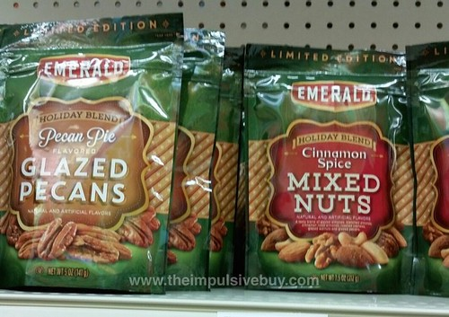 Emerald Limited Edition Holiday Blend Pecan Pie Flavored Glazed Pecans and Cinnamon Spice Mixed Nuts