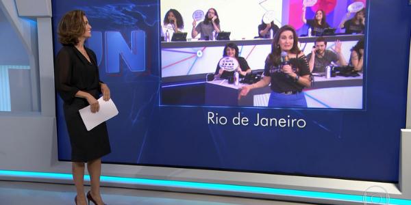"""Após 4 anos, Fátima Bernardes """"retorna"""" ao """"Jornal Nacional"""""""