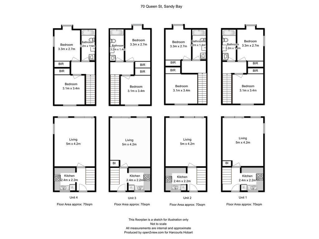 Property Floorplan Of 70 Queen Street Sandy Bay Tas