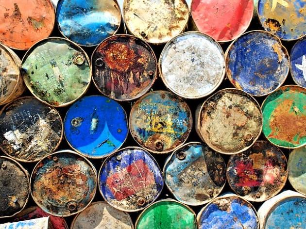 Oil drums at Sunda Kelapa port, Jakarta, Indonesia