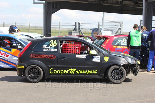 Lochlan Bearman in the Fiesta Junior Racing during the BRSCC Weekend at Rockingham, May 2016
