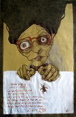 Sogno del 2 ottobre 1911 di Franz Kafka, biro e pastelli, 2016