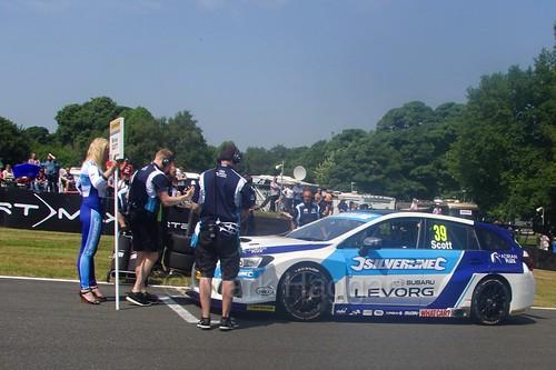 Warren Scott's grid place during the BTCC weekend at Oulton Park, June 2016