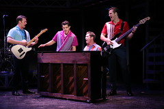 (l to r) Nicolas Dromard, Hayden Milanes, Drew Seeley and Keith Hines in the Broadway Sacramento presentation of JERSEY BOYS at the Community Center Theater Nov. 5 – 22, 2014. Photo by Joan Marcus.