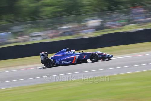 Petru Florescu in British Formula Four during the BTCC weekend at Oulton Park, June 2016