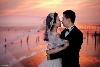 Pre-Wedding [ 中部婚紗 - 海邊草原系列婚紗 ] 婚紗影像 20140911 - 4381-1