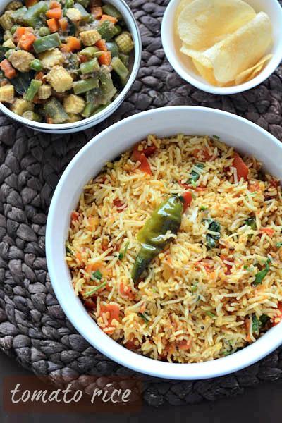 how to prepare tomato rice in telugu