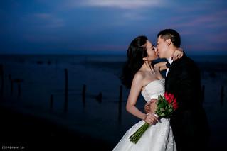 Pre-Wedding [ 中部婚紗 - 海邊草原系列婚紗 ] 婚紗影像 20140911 - 4399-1