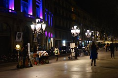 Raval by night in Barcelona