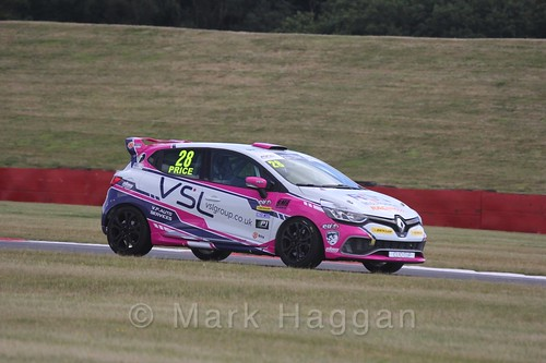 Josh Price in the Clio Cup during the BTCC 2016 Weekend at Snetterton