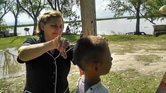 Visita del grupo juvenil a las familias del Puerto Goya