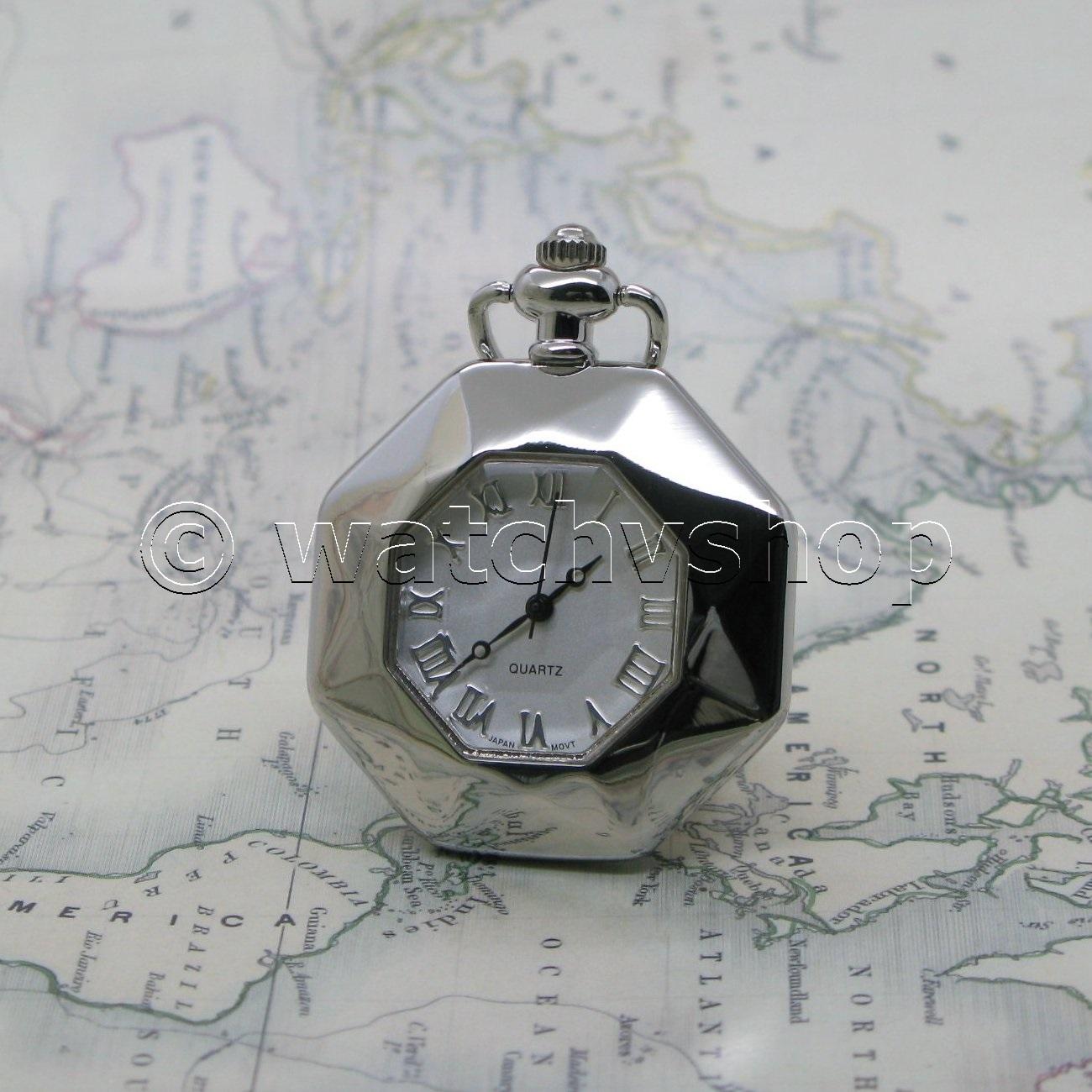 Antique La S Vintage Pocket Pendant Watch Key Chain Necklace T Box L