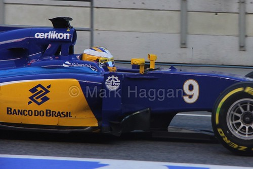 Marcus Ericsson in the Sauber in Formula One Winter Testing 2015