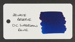Private Reserve DC Supershow Blue - Word Card