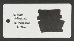 Private Reserve Invincible Black - Word Card