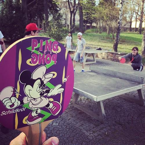 #PingPong #Power im #Park @ #0711 #Stuttgart mit #Minimaus #Schildkröt #Disney #Minimouse