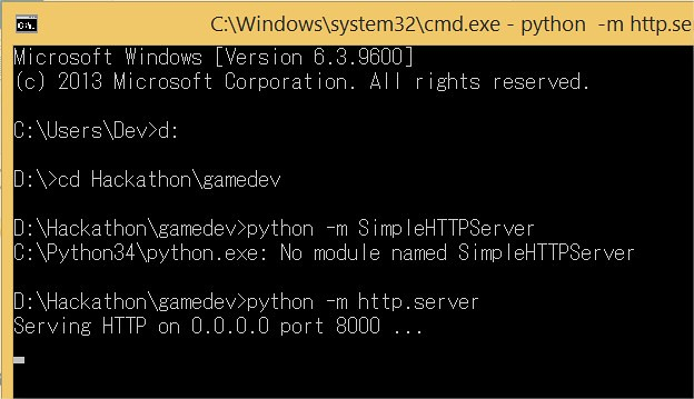 Python Web Server Up and running via python -m http.server command
