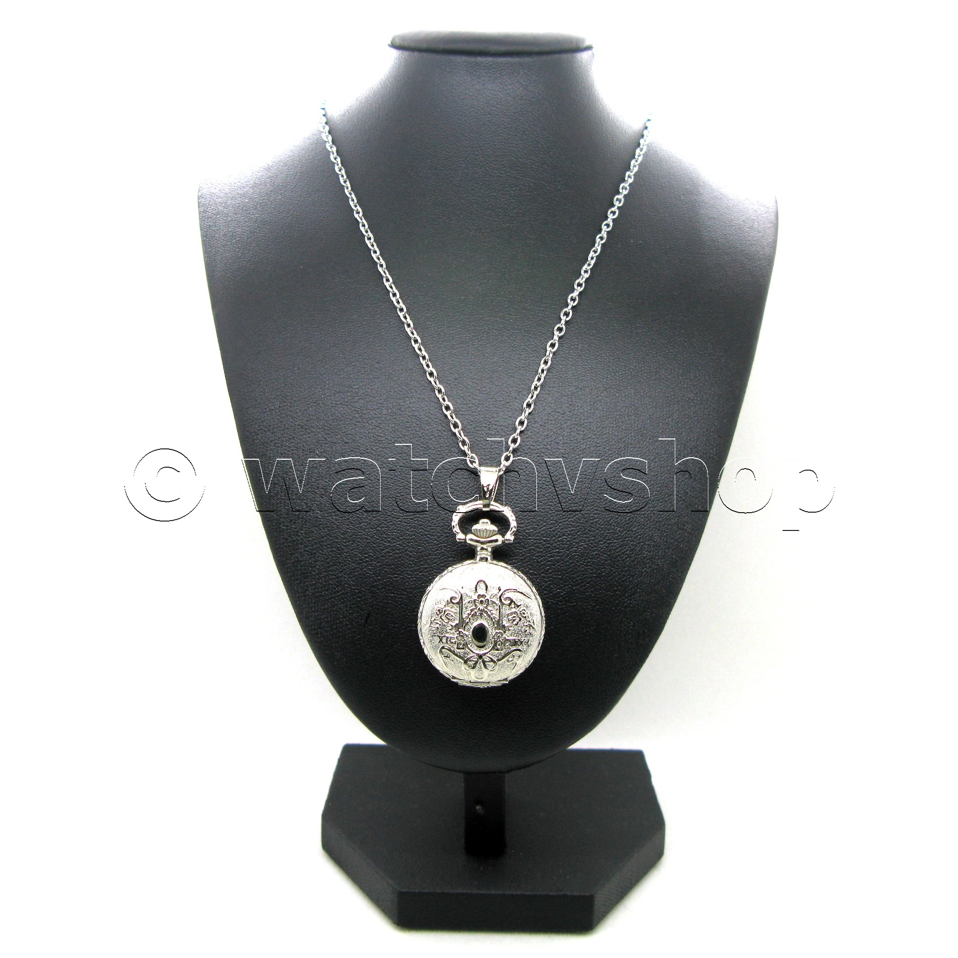 Silver Classic Women Pendant Watch 2 Ways Key Chain And Necklace T Box L13