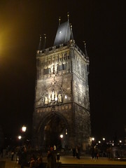 2013 05 02 Charles Bridge gate at night 7674