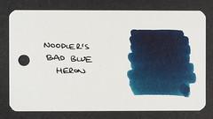 Noodler's Bad Blue Heron - Word Card