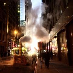 NYC Street #nyc #newyork #usa #smoke #night