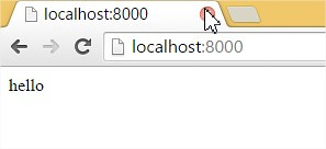 Python Web server is up and running