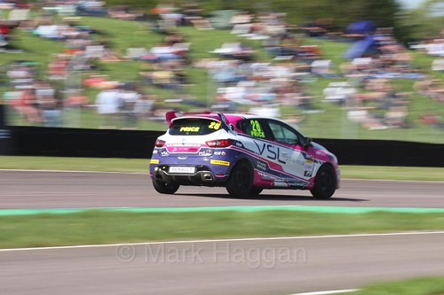 Josh Price in the Clio Cup during the BTCC Weekend at Thruxton, May 2016