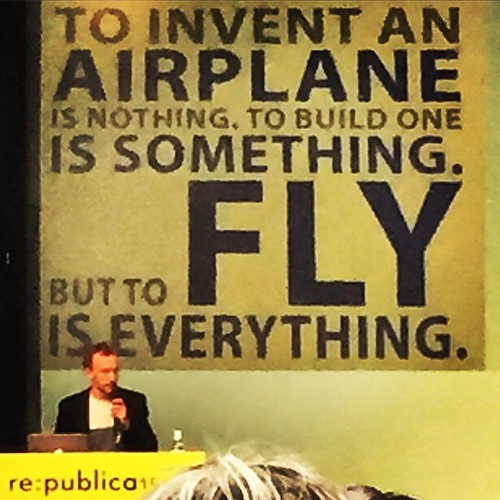 To  i n v e n t  an AIRPLANE is nothing. To b u i l d one is something. But to  F  L  Y IS EVERYTHING. #rp15