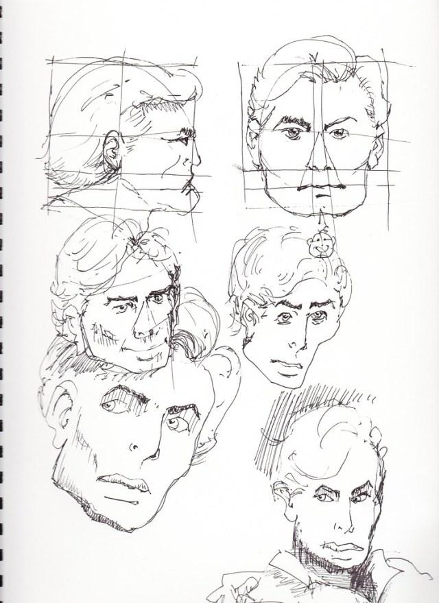 Male face studies