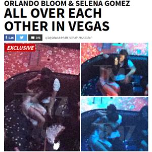 Orlando Bloom e Selena Gomez são flagrados aos beijos em Las Vegas