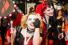 "Two Harley Quinns #cosplay #C2E2 2015 • <a style=""font-size:0.8em;"" href=""http://www.flickr.com/photos/33121778@N02/17283698155/"" target=""_blank"">View on Flickr</a>"