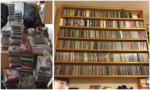 Today is all about...alphabetising the CD collection
