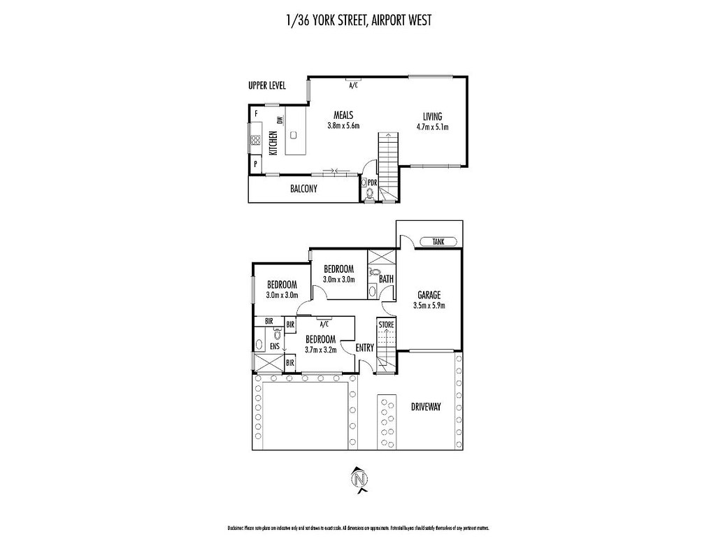 Property Floorplan Of 3 36 York Street Airport West Vic