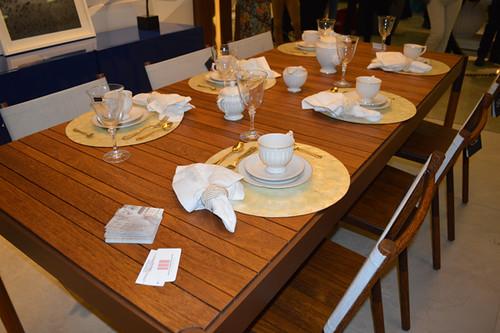 Detalhes da mesa e cadeiras Novo Stilo