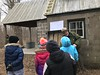 Outside the Chellberg Farm sugar shack