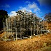 Photo:福島県田村郡三春町の真照寺はミズバショウで有名。裏庭の水芭蕉の棚地では下段の日当たり良い所に5cm程の芽が伸びてた。現在三春滝桜は三春滝ザクラ天然記念物再生工事の看板があり樹勢回復のため樹全体が足場で囲まれてる。2箇所共大人の発達障害の自閉症スペクトラムASDの作業所通所で立寄り易い所。  #snapseed By