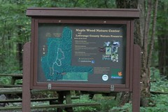 Maple Wood Nature Center sign