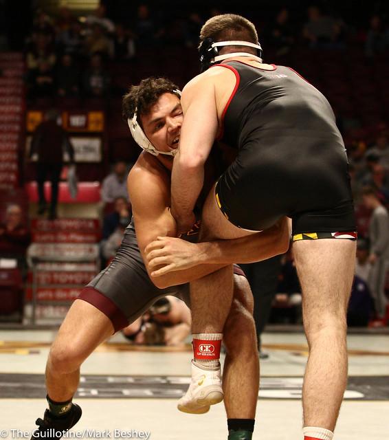 Cons. Round 1 - Brandon Krone (Minnesota) 9-14 won by major decision over Kyle Jasenski (Maryland) 10-17 (MD 13-2) - 1903amk0419