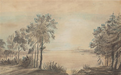 Toronto 185 years ago. York Harbour, looking west from the mouth of the Don River, 1793