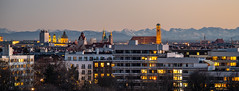 Panoramic View of Munich at night
