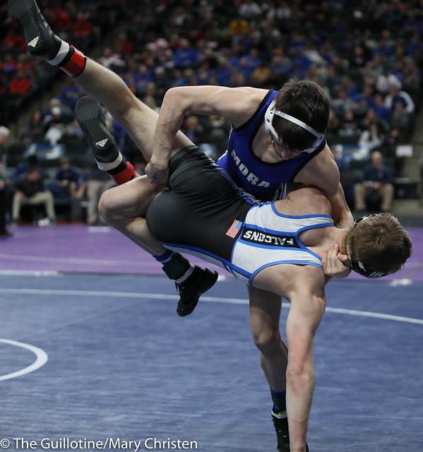 132 – Ryan Nosbush (Mora) over Alex Vait (Foley) Fall 3:42. 190228amc1671