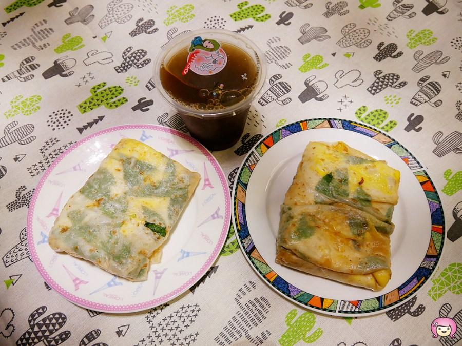 [桃園美食]古早味爆漿蛋餅忠二店|忠二市場內銅板小吃~薄皮蛋餅現點現做 @VIVIYU小世界
