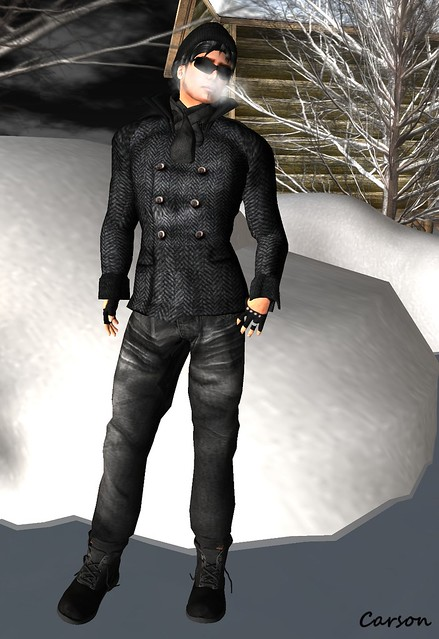 FA CREATIONS - Peacoat, Black Jeans, Scarf, Gloves, and Shoes