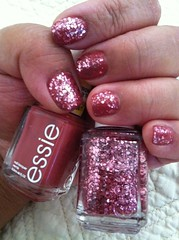 "Essie ""In Stitches"" topped with Essie top coat ""A Cut Above"""
