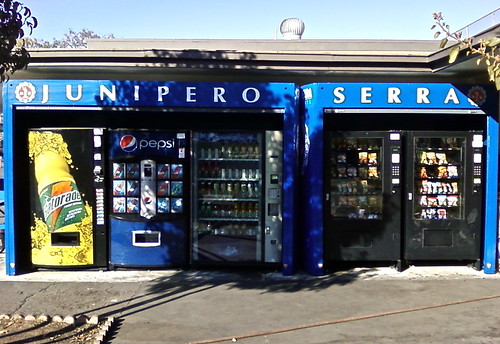Junipero Serra High School - vending vinyl