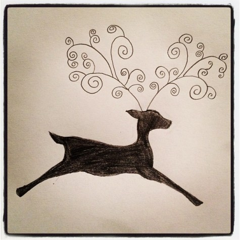 Morgan's Christmassy Doodles. #christmas #art #illustration
