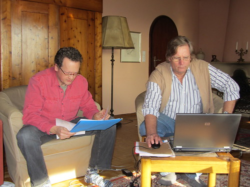 Jeff and John working hard at VD9