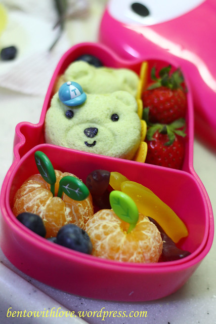 Simple Bread Bento with Bears