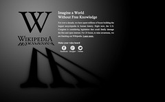 Wikipeida goes dark - 20120118