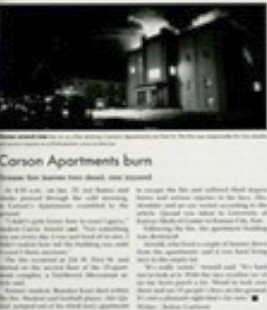 Carson Apartments Fire